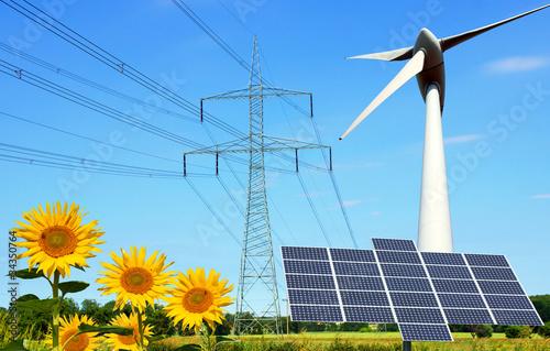 Fotografie, Obraz  erneuerbare Energie