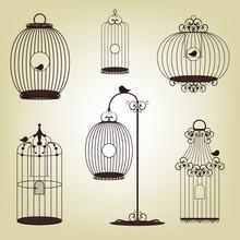 Set Of Vintage Bird Cages