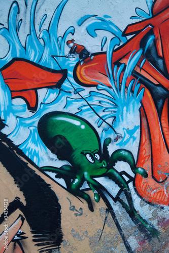 Foto auf AluDibond Graffiti ref