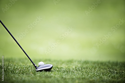 Deurstickers Golf Golf background with driver and ball.