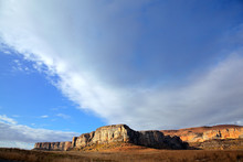 Sandstone Rock And Sky, Golden Gate N/P, South Africa