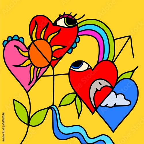 Fotobehang Klassieke abstractie symbols of love