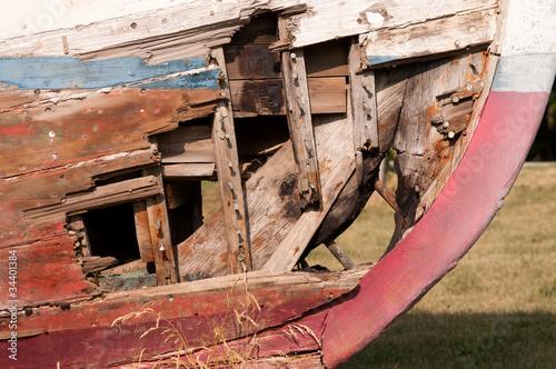 Garden Poster Shipwreck Ship wrecked boat
