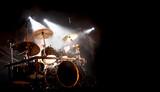 Schlagzeug und Trommel beim Konzert