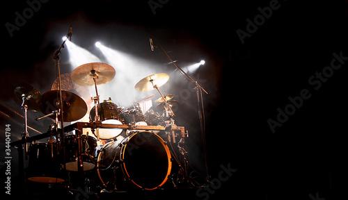 Fotografía  Schlagzeug und Trommel beim Konzert