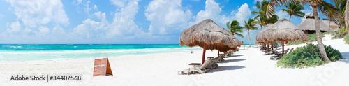Foto op Plexiglas Caraïben Caribbean beach panorama