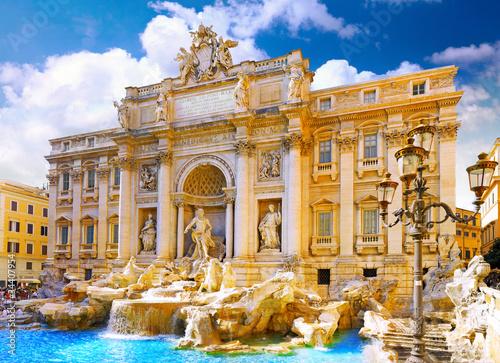 Foto-Kassettenrollo premium - Fountain di Trevi ,Rome. Italy.