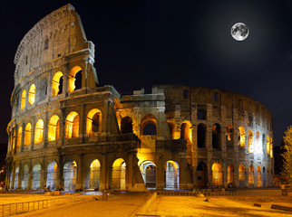 Fototapeta Popularne The Colosseum, Rome. Night view