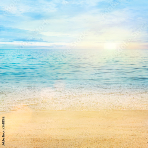 Foto op Canvas Pool Sea and sand background