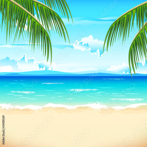 Photo Stands Turquoise Beautiful Beach
