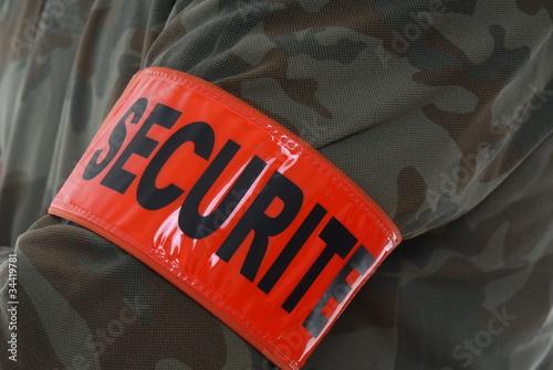 brassard agent de securité
