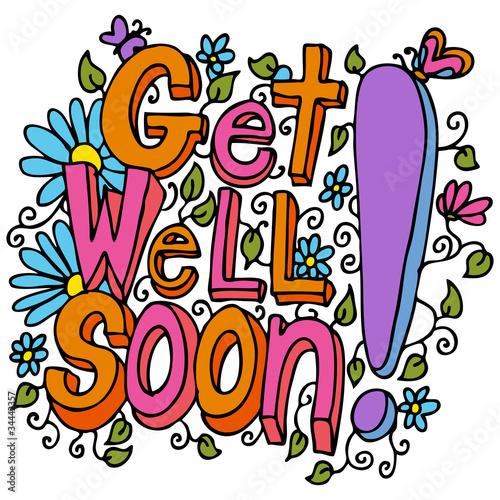 Valokuvatapetti Get Well Soon Message