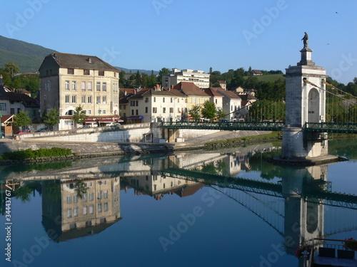 Poster de jardin Ville sur l eau Seyssel