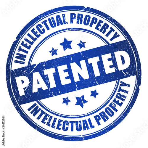 Patented intellectual property stamp Wallpaper Mural