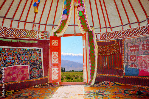 Photo Stands Magenta Kazakh nomads dwelling