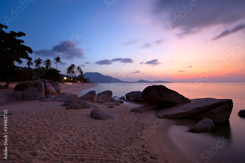 Deurstickers Tropical strand Sunrise at Lamai beach
