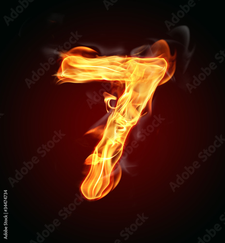 """Poster  Fire number """"7"""""""