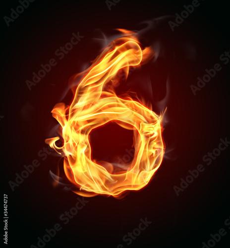 """Photographie  Numéro de feu """"6"""""""