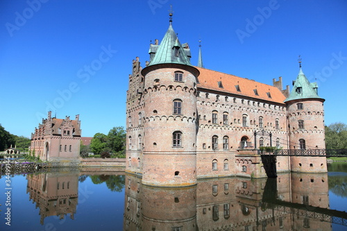 Egeskov castle, landmark fairy tale castle in Denmark Poster