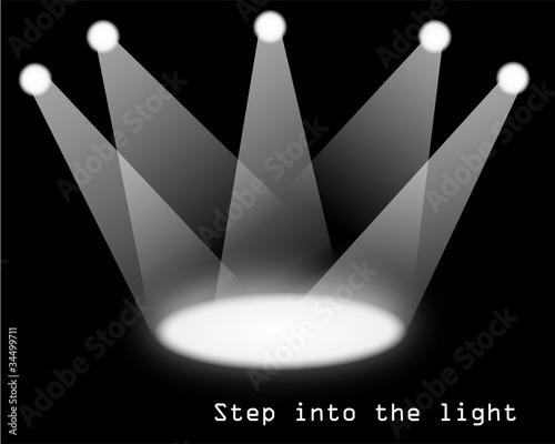 Fototapeta set of spotlights obraz na płótnie