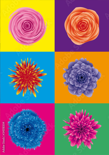 flower power / blumen pop art - 34518304
