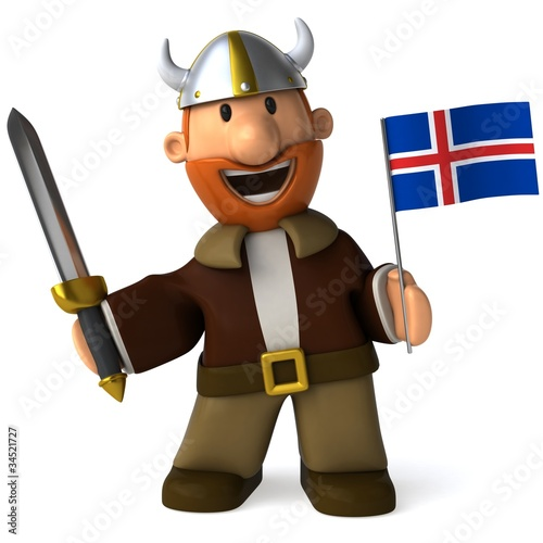 Aluminium Prints Wild West Viking
