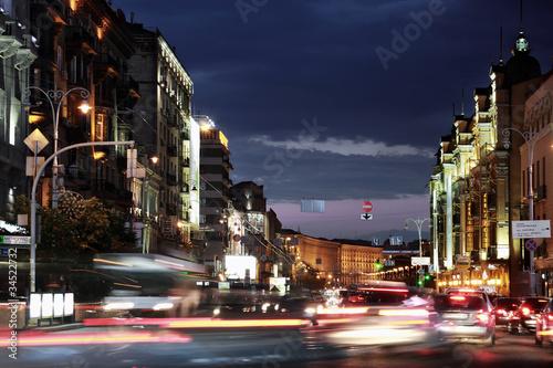 Foto op Plexiglas Kiev Night Kiev