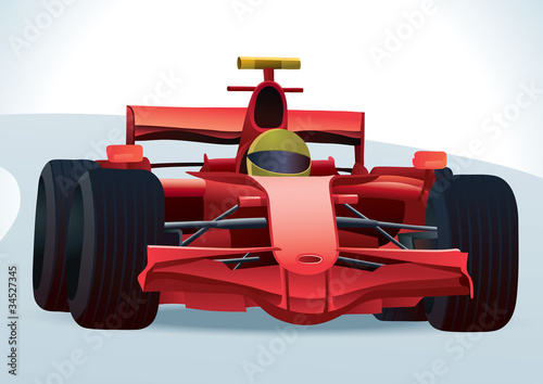 Foto op Canvas Cars Red F1 Racing Car