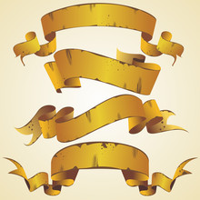 Vector Gold Banners