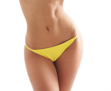 Sexy Body Of A Young Woman In Beautiful Yellow Panties