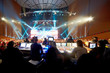 canvas print picture - Operators at control panels at concert