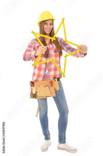 Garden Poster Fairytale World Junge Handwerkerin bastelt gelben Stern
