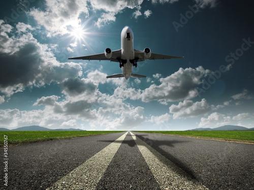 Spoed Foto op Canvas Vliegtuig 飛行機