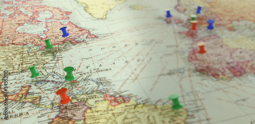 Poster Carte du monde Anqtiq world map