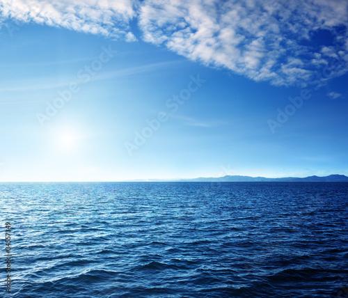 Staande foto Zee / Oceaan Caribbean sea and perfect sky