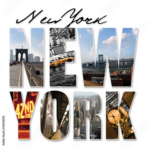 NYC New York City Graphic Montage - 34558583