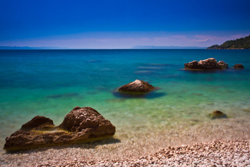 Obraz na Szkle Krajobraz Podgora Chorwacja
