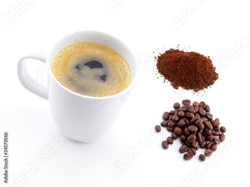 Canvas Prints Coffee beans cup of coffee