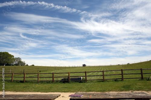 Fényképezés Paddock Under Beautiful Sky