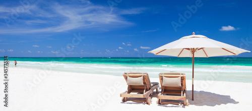 Foto-Leinwand - Caribbean coast (von BlueOrange Studio)