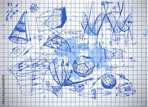 фотография  math and physics symbols