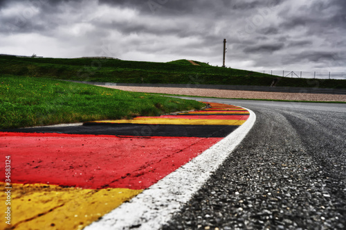 Photo Stands Motor sports Sachsenring Curbs HDRI