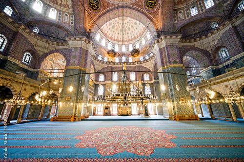 Poster Turquie New Mosque Interior in Istanbul