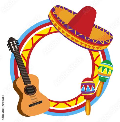 Fotografía  Frames with Mexican Symbols