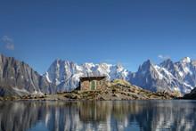 Grandes Jorasses From Lac Blanc Above Chamonix, France