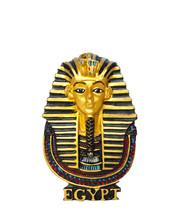 Egyptian Golden Pharaohs Mask Isolated On White