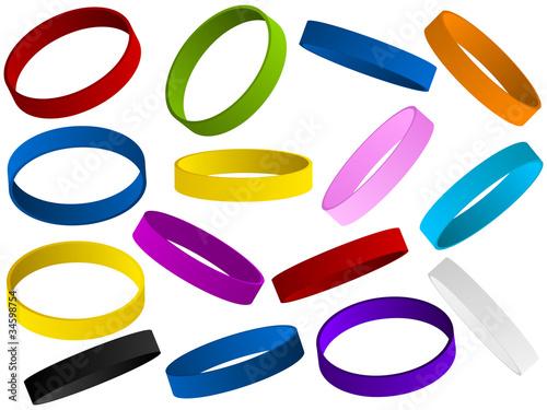 Cuadros en Lienzo Set of colorful wristband