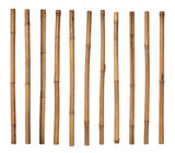 Bamboo sticks isolated on white