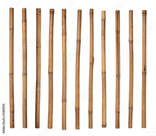 Fotografia  Bamboo sticks isolated on white