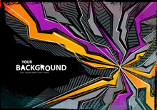 Cool Abstract Graffiti Background. Vector Illustration.